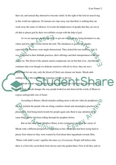Biblical Exegetical paper essay example