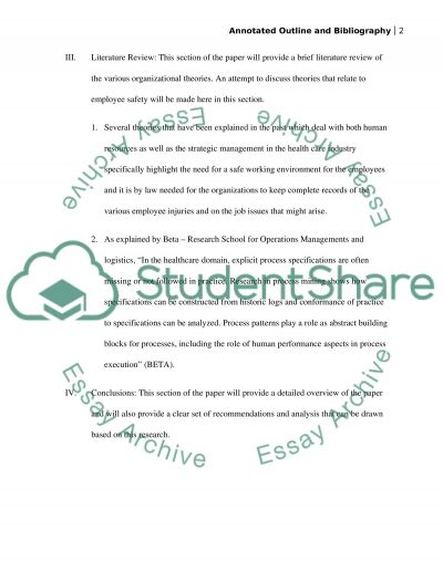 U05a1 Project Annotated Outline and Bibliography