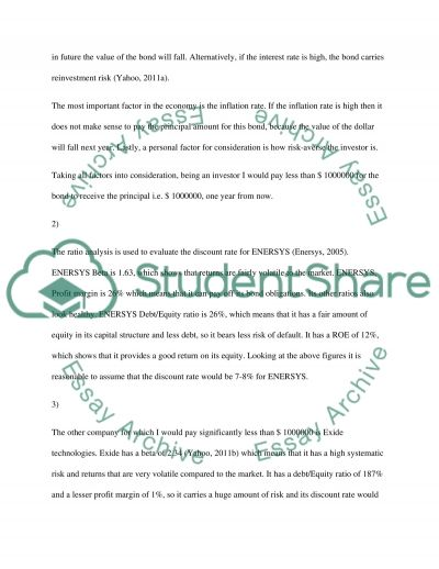 Time Value of MOney essay example