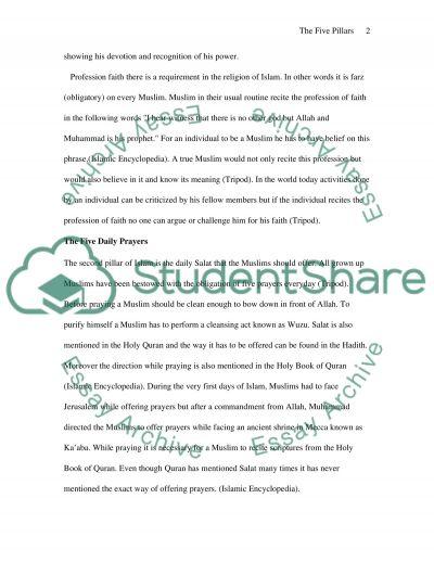 Five pillars essay example