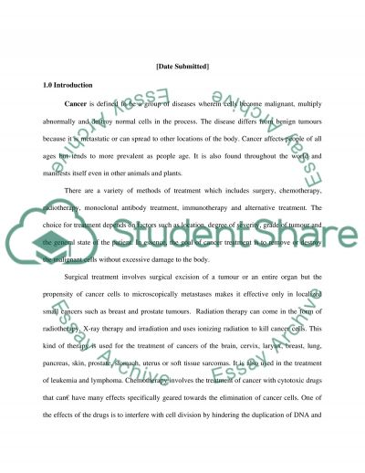 Cancer Treatment Research Paper Research Paper example