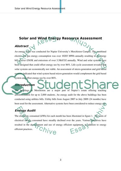Solar & Wind Energy Resource Assessment
