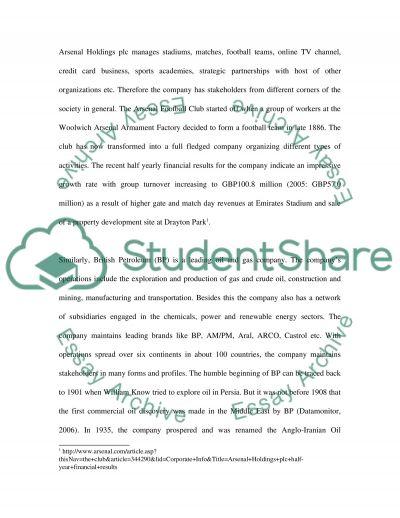 Managing External Stakeholders essay example