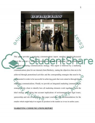 Marketing Communication essay example