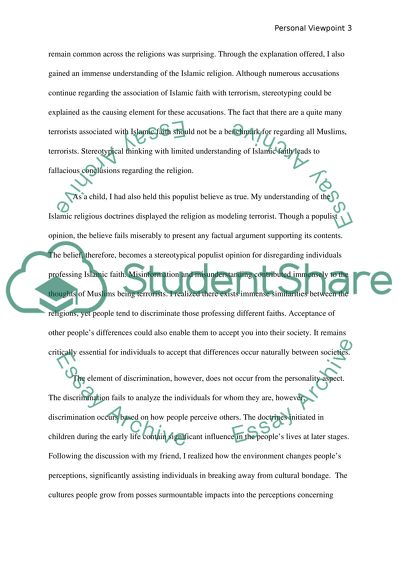 Personal Viewpoint Paper Essay Example  Topics And Well Written  Personal Viewpoint Paper