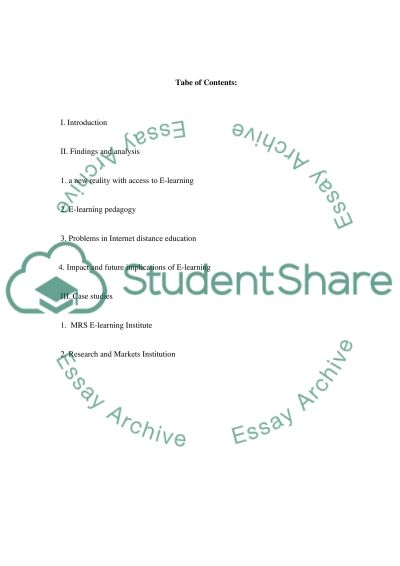 E-Learning Master Essay essay example