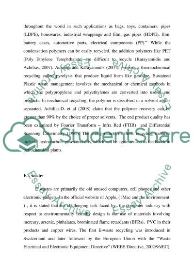 Design for Environment essay example
