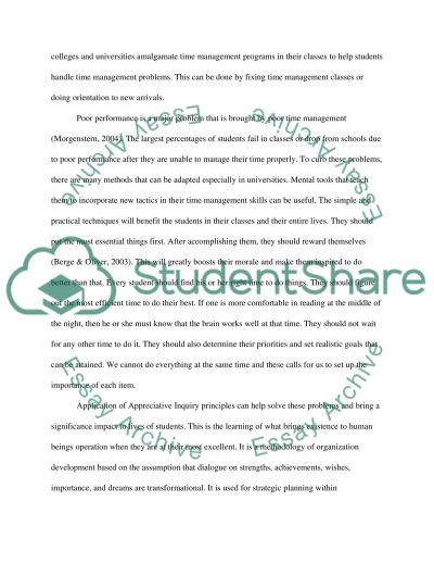 Time Management and Refreshing Classes Tools for Educational Retention essay example