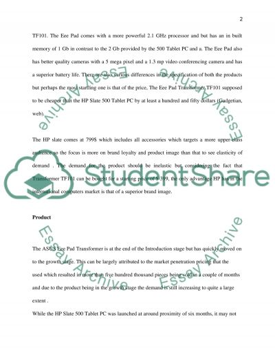 Comparison of ASUS and HP essay example