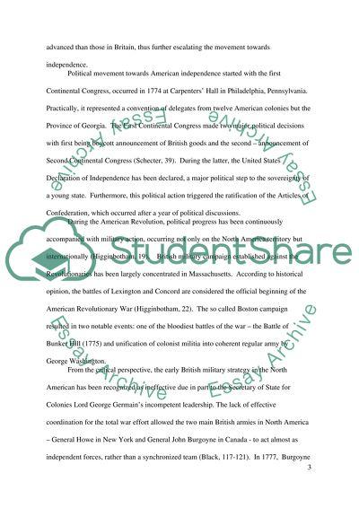 American revolution research paper