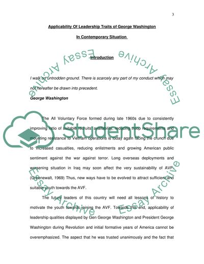 English Essay Introduction Example Research Of Gen George Washington Specifically Focusing On Leadership  Qualities He Possessed To Become An Analysis And Synthesis Essay also Reflective Essay Thesis Research Of Gen George Washington Specifically Focusing On  Example Of Thesis Statement For Argumentative Essay