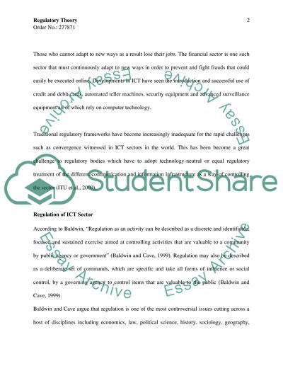 Information and Communication Technology Master Essay