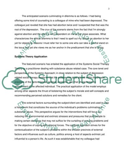 Case Study Ethical Practice Paper