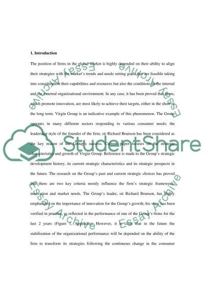 Longitudinal Strategic Development Study Virgin essay example