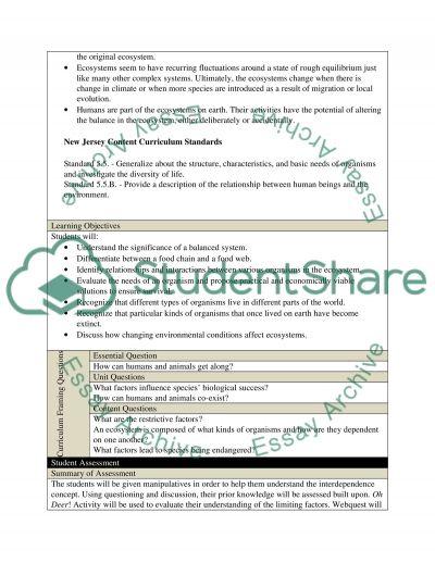 Unit Plan Design essay example