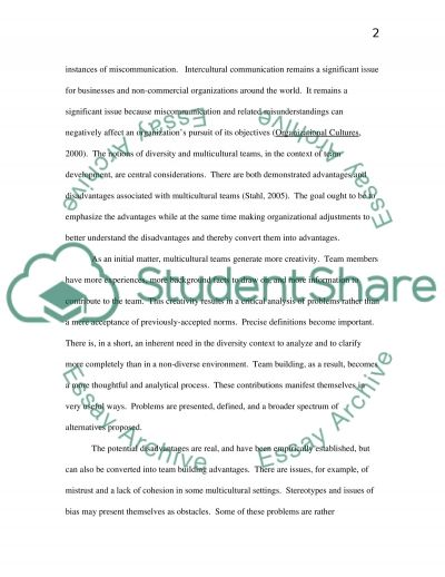 Strategies for Effective Team Building Essay example