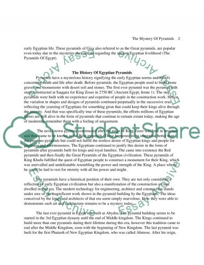 What Is Success To You Essay The Mystery Of Pyramids Reference In An Essay also Writing A Problem Solution Essay The Mystery Of Pyramids Essay Example  Topics And Well Written  Example Of A Good Thesis Statement For An Essay