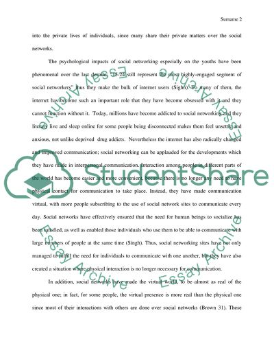 social networking sites essay