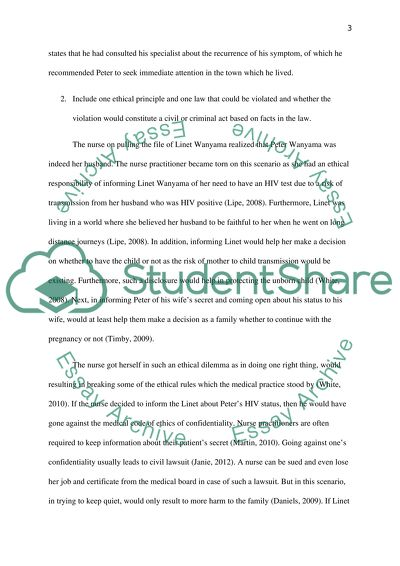 Ethical Dilemma Case Study Example | Topics and Well Written