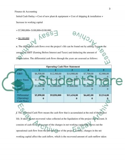 Mini Case in Finance and Accounting essay example