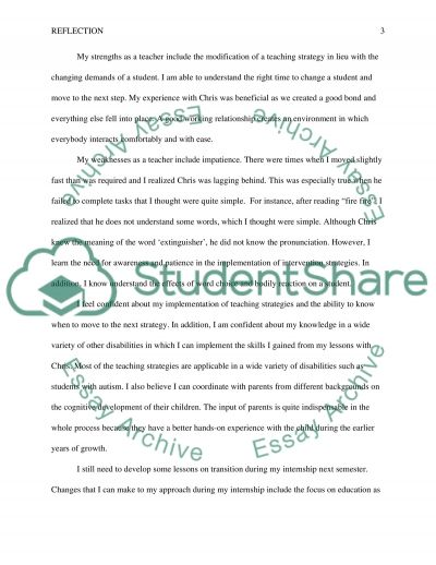 Reflection on reading and writing case study