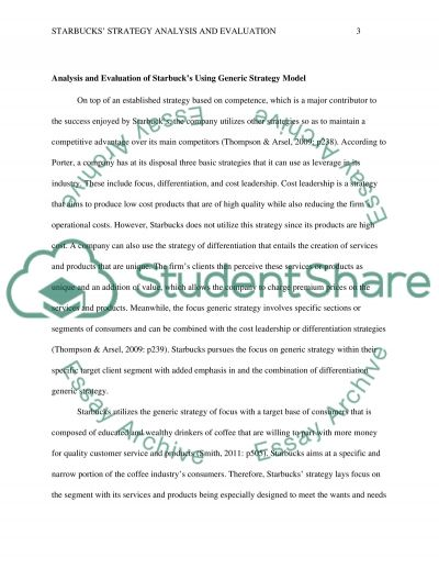 STRATEGY ANALYSIS AND EVALUATION essay example