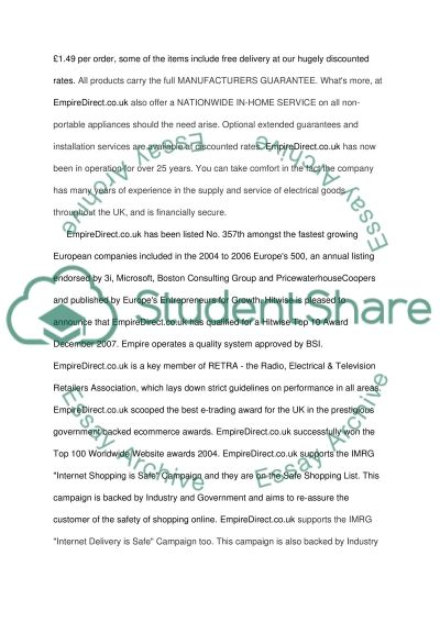 Online Business essay example