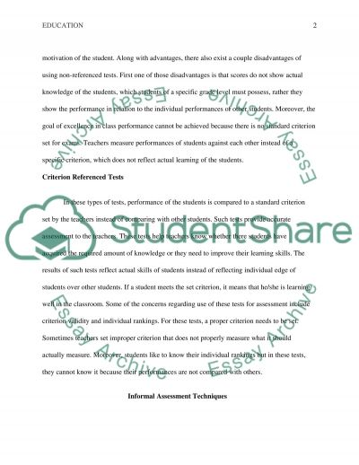 Formal and Informal Testing essay example