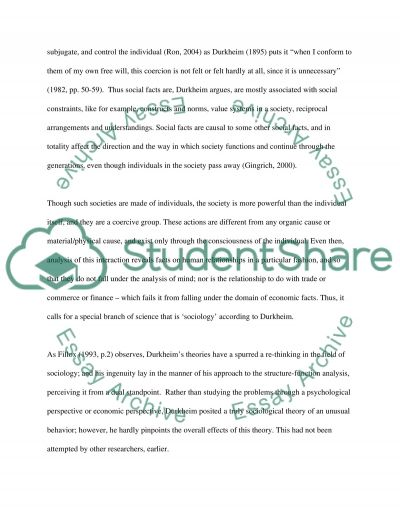 Sociology essay Book Report/Review essay example