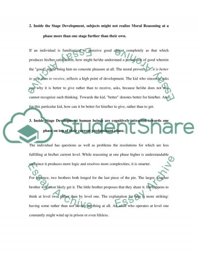 Moral Development of the Children Book Report/Review essay example