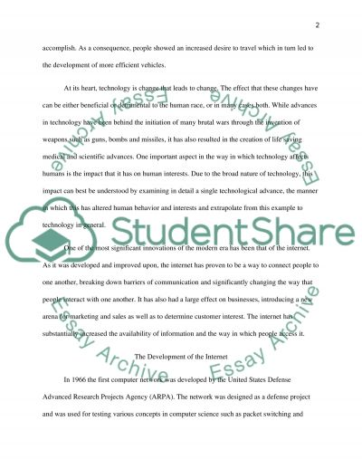 How Technology Alters the Structure of Our Interests essay example