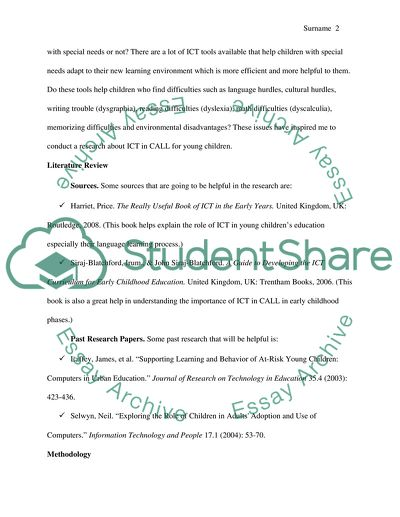 Master dissertation proposal (outline)of about 600 words