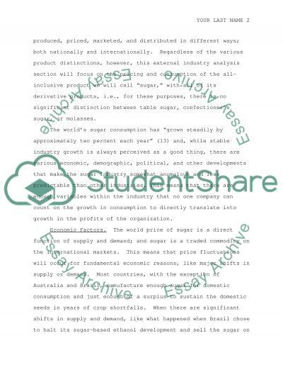 Strategic Case Analysis: ADI Sugar essay example