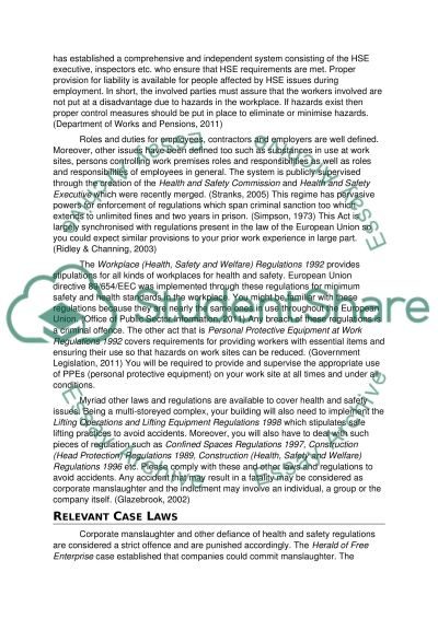CONSTRUCTION LAW - YEAR 3 IN QUANTITY SURVEYING essay example