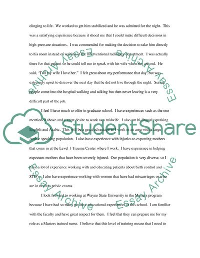 Personal Statement for Graduate School