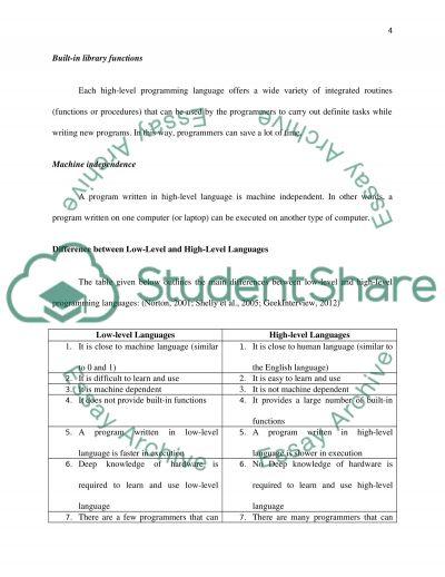 high level language and low level language pdf