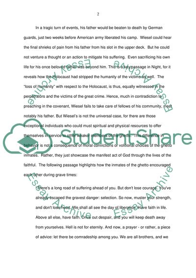 Japanese Essay Paper Analysis Of The Book Night By Elie Wiesel Good Persuasive Essay Topics For High School also Argument Essay Sample Papers Analysis Of The Book Night By Elie Wiesel Essay Example  Topics And  Essay Papers