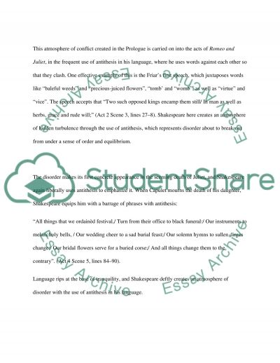 Shakespeares Romeo and Juliet essay example