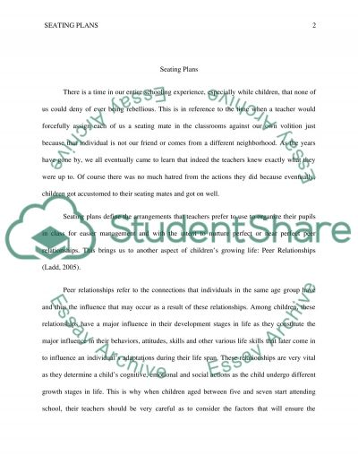 Seating plans essay example