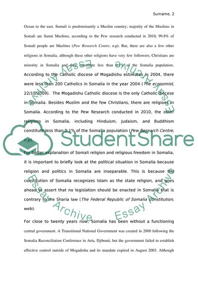 freedom of religion essay