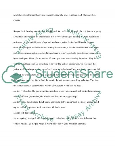 Conflict Management College Essay essay example