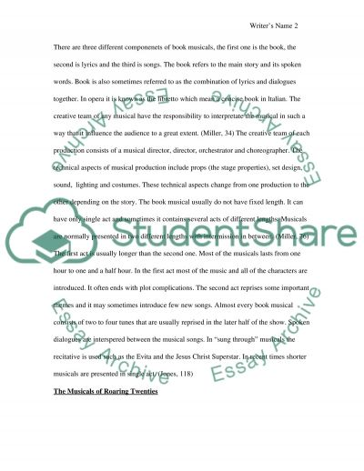Musical Theater essay example