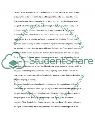 Plato Short Paper essay example