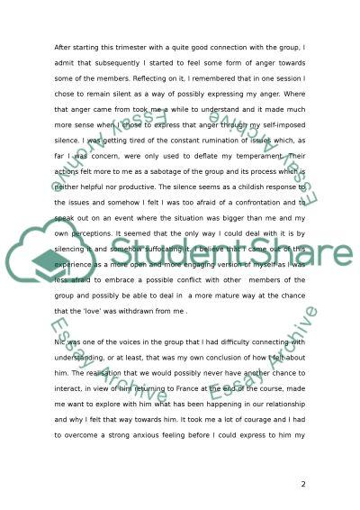 Personal Development essay example