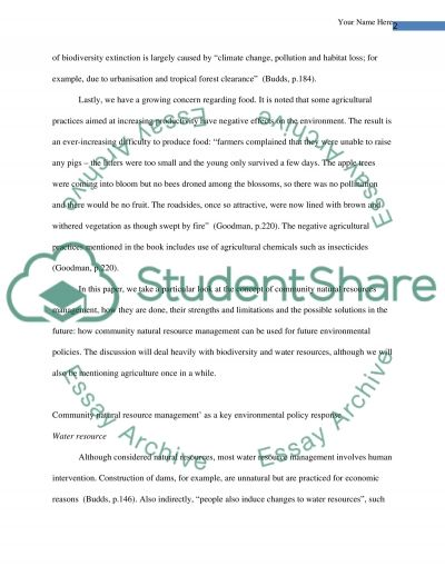 Community Natural Resource Management essay example