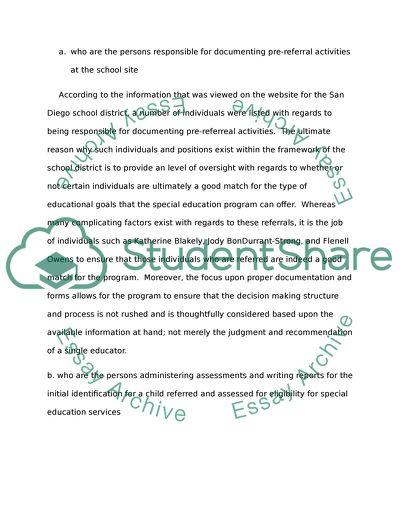 Special Education Procedures
