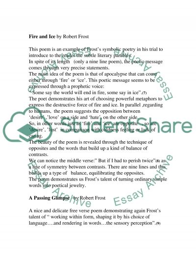 the figure a poem makes by robert frost essay example topics and  the figure a poem makes by robert frost essay example