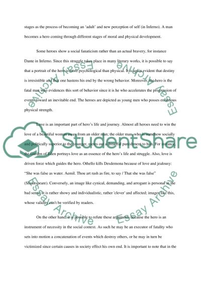 The Nature of he Hero essay example