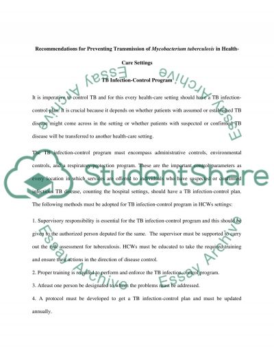 TB Skin Testing essay example