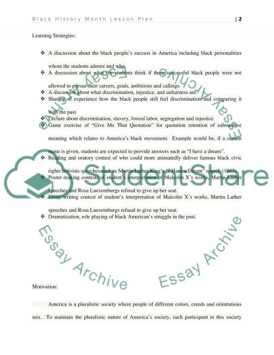 Social Studies Lesson essay example